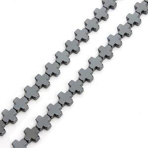 38 teile / los 10 * 10mm Natürliche 5 Farben Hämatit Kreuz Perlen Für Schmuck Machen Lose Distanzscheibe Korne Armband Halskette entdeckungen F3754