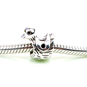 Replacement Little Duck Alloy Charm Bead Big Hole Fashion Women Jewelry European Style For Pandora Bracelet Necklace