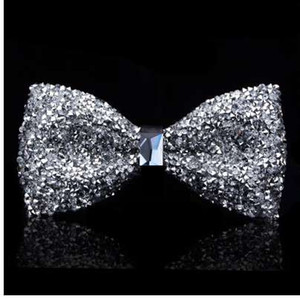 New blow tie kristall bling schmetterling knoten für männer hochzeit bankett fest club party bräutigam shinning
