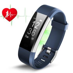 Reloj inteligente ID115HR PLUS inteligente pulsera de Deportes del ritmo cardíaco inteligente Banda de fitness pulsera GPS Tracker ID115 PLUS