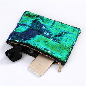 Sacchetto cosmetico della borsa di trucco di BlingBling della borsa della frizione di sera della borsa della frizione della borsa della frizione di grande capacità delle paillettes della sirena delle donne