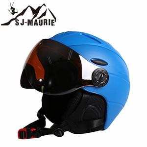 Sport Sicherheit Capacete Patins Männer Frauen Outdoor Sport Skifahren Klettern Helm mit Visier Snow Gear Snowboard Skateboard Helm