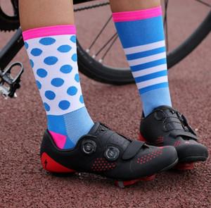 Новый Велоспорт носки мужчины спорт профессиональный дышащий сжатия носки велосипед носок Calcetines Ciclismo пот и воздухопроницаемость