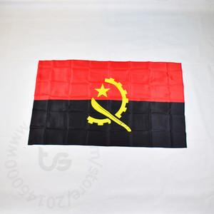 Angola transporte 3x5 bandeira nacional gratuito FT / 90 * 150 centímetros Hanging bandeira de Angola National Home Decoração bandeira da bandeira