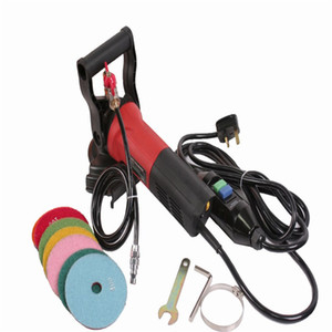 EXCELLENT 800W Electric Wet Polisher Angle Grinder With Water Supply Line and Hose Adapter Colorful Polishing Pads