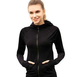Running Jacket Pour Femmes Yoga Zipper Manches Longues Femmes Sport Veste Fitness Dames Hoodies Sports Vêtements Pour Femmes