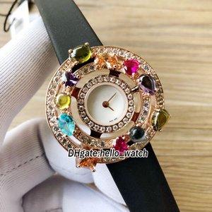 36 мм высокие ювелирные изделия Astrale 101339 AE36D2CB белый циферблат швейцарские кварцевые женские часы с бриллиантами ободок кожаный ремешок ну вечеринку платье женские часы