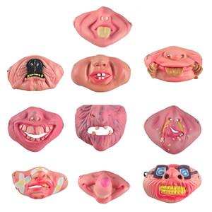Korkunç Maske Parti Cadılar Bayramı Fool Günü Palyaço lateks Maske Cosplay Kostüm Yarım Yüz Maskeleri Kadın Adam Çocuk