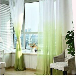 Cortinas de tul 3d Tratamientos Impreso de cocina americana Decoración de la sala de estar Divisor Sheer Voile cortina Panel simple