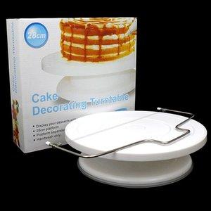 28cm En Plastique Tournant Décoration De Gâteau Platine 1 Réglable Double-Wire Cake Slicer pour Outils De Gâteau DIY
