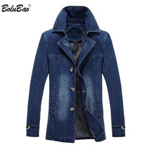 BOLUBAO Herren Jacken Mäntel Baumwolle 2018 Herbst Volltonfarbe dünne Jacke männlichen Mantel Multi-Taschen-Männer Denim-Jacken-Mantel