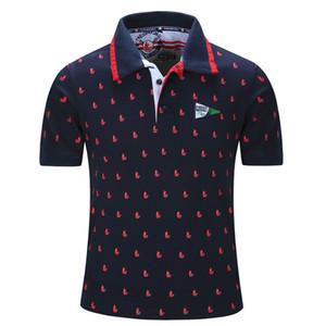 Europa Große Größe Neue Marke Polos Herren Bedruckte Polo Shirts 100% Baumwolle Kurzarm Polos Herren Casual Männlich Polo Shirt Großhandel