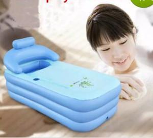 Baignoire portable pliable pour adultes en PVC pour adultes. Baignoire gonflable de 160cm * 84cm * 64cm + pied. Pompe à air