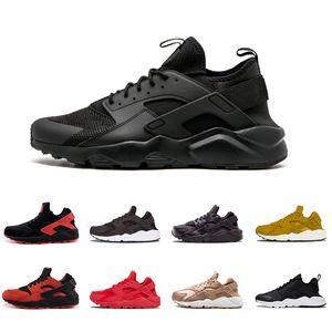 2018 Yeni Huarache 1.0 4.0 Üçlü beyaz siyah Erkekler Kadınlar spor Sneakers Zapatillas Deportivas Spor Huaraches Ayakkabı Eğitmenler boyutu 36-45