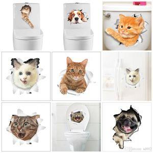3D Look Loch Wandaufkleber Kreative Lebendige Katze Hund Notebook Wc Aufkleber Für Badezimmer Raumdekoration Paster Mode 1 5cz dd