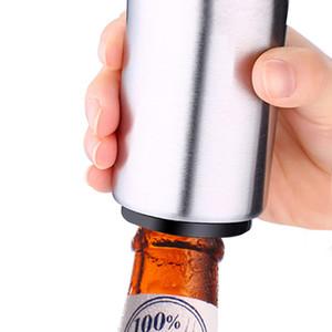 Delicate Edelstahl Bier Flaschenöffner Hilfe Guide Automatische Magnet Saft Trinken Öffner Bar Küche Kochen Werkzeug Gadget