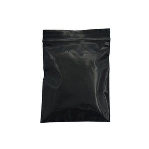 500pcs lot Small Black Opaque Zip Lock Resealable Ziplock Plastic Bag Grip Seal Pouch Retail Packing Bag Zipper Plastic Package for Grocery
