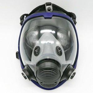 Atacado- Atualizado máscara facial Masquerade For Men 3M 6800 Gas máscara facial peça facial do respirador Para Pintura de pulverização frete grátis