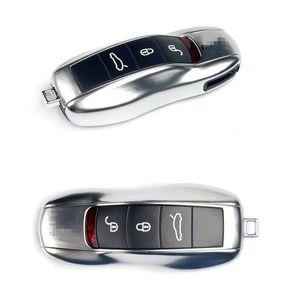 Chrome ABS Shell dominante sostenedor de la llave ama de llaves llaves Organizador Llavero Cubiertas del bolso del caso dominante para el Porsche Panamera Cayenne Macan 911