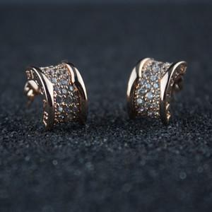 Orecchino di cristallo d'argento per i monili Festa della Donna Piccolo Diamante Orecchini Belle Donne di San Valentino
