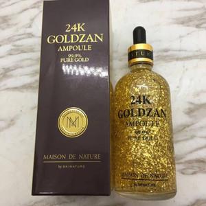 EM ESTOQUE !! maquiagem Primer Skinature 24 k Goldzan Ampola 24 K Ouro Dia Cremes Hidratantes Serum Essência de Ouro Novo Rosto Cuidados Com A Pele DHL grátis