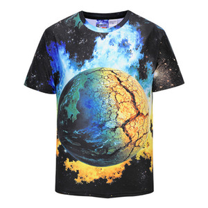 Apparel Europe and the United States the world's high-quality printing Earth T shirt Tshirt Earth 3d T-shirt Men's T-Shirts Asia size S-XXL