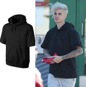 Les hommes occasionnels en vrac High Street Sweats à capuche manches courtes T-shirts à capuche Sweatshirts Sweats à capuche Homme en vrac Haut