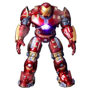 Marvel Heros Oyuncak Avengers 2 Demir Adam Hulkbuster Zırh Eklemler LED Işık Ile 18 CM Işareti Altın Boya PVC Action Figure Koleksiyon Model Oyuncak