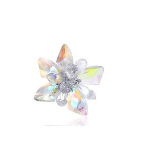 Woman shoes flower charms high-heel pumps flats accessories crystal diamond flats shoe clips clog Fashion shoes bag clip
