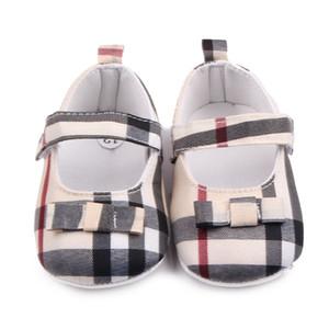 Bébé Chaussures Printemps Semelle Souple Fille Coton Premiers Marcheurs Mode Bébés Filles Chaussures Papillon-noeud Première Semelle Chaussures Enfants