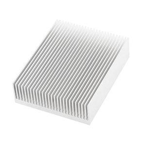 Freeshipping Silver Tone Aluminium Radiator Heatsink Heat Sink 150x80x27mm