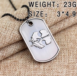 Collar de videojuegos Cod Ghosts Dog Tag Necklace New Sale For Retail Bead Chain