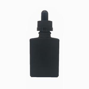 Wholesale 1 oz square glass bottle, glass e liquid dropper bottle essential oil bottle, 30ml glass dropper bottle