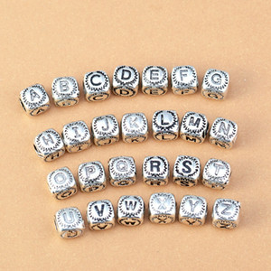 925 Sterling Silver Charm Openwork 26 letter European Floating Charms Bead Fit Pandora Snake Chain Bracelet DIY Jewelry