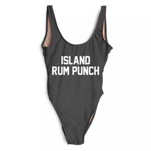 Island Rum Punch Maillot De Bain Mariée Bachelorette Party Maillots De Bain Maillot De Bain Onepiece Maillots De Bain Lettre De Lune De Miel Imprimer YWXK