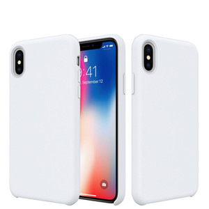 PURE KASE for Iphone 8 Case, Pretty Liquid Silicone Gel Rubber Case with Soft Microfiber Linning for Iphone X Silicone Cases