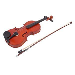 4/4 바이올린 천연 어쿠스틱베이스 우드 페이스 보드 바이올린, 케이스 박스 로진 보우가있는 현악기