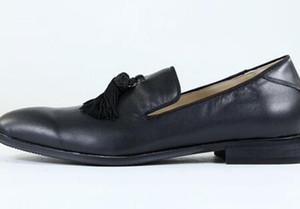2018 Scarpe uomo con nappine Scarpe con mocassini Italian Street Smoking Shoes for Men EU39-EU46 Colore personalizzato