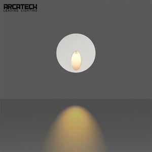3 W Gömme LED Adım Işıklar Yuvarlak Yolu Duvar Köşe Lambalar LED Merdiven Işık Koridor Lambaları Gömülü Beton Duvar Lambası AT-8R