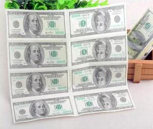 Tovagliolo della carta velina di 100 dollari che stampa comodità naturale popolare del partito di comodità divertente 15pcs / lot