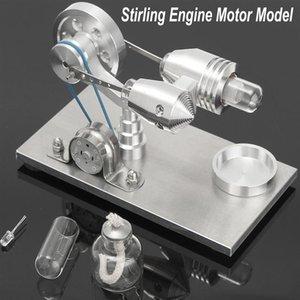 Nouvelle arrivée en acier inoxydable Mini Air Chaud Stirling Moteur Moteur Modèle Jouet Éducatif Science Kit D'expérimentation Ensemble Pour Chuldren