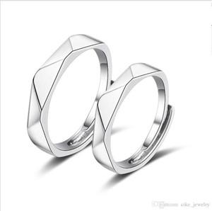 Gli amanti delle coppie Brass Ring semplice triangolo finitura forma imitazione rodiato per l'apertura uomo donna regolare le dimensioni del cerchio
