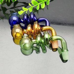 Renk spiral S pişirme pot cam bong su borusu Titanyum tırnak değirmeni, Sigara Boru Mix Renkler Için Cam Bubblers