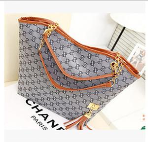 디자이너 가방 뜨거운 판매 새로운 고품질 캔버스 체인 어깨 가방 캐주얼 패션 핸드백 드리 워진 장식 단일 어깨 체인 가방