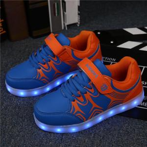 2018 LED USB recarga niños zapatillas de deporte luminosas con zapatos brillantes para niños Niños Jazzy Junior Girls Boys Light