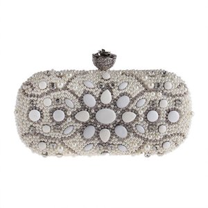 Pearl Small Bag Set Diamond Dinner Party Bag European and American Fashion Chain Bridal Hand Bags