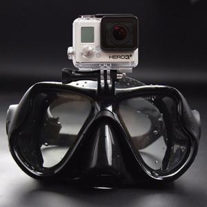 Heißer Verkauf Professionelle Unterwasserkamera Tauchermaske Scuba Schnorchel Schwimmbrille für GoPro Xiaomi SJCAM Sport-Kamera