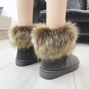 LAPOLAKA neue Großhandel Mode klassischen Schuhe Frau warme Pelz Schnee Stiefel Frau Stiefel Schuhe Slip auf Winter Frauen