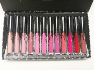 Liquidation des stocks Emmenez-moi en vacances, envoyez-moi plus nu 12 couleur Kit Kit Rouge À Lèvres Liquide Matte Kelly Cosmetics 12pcs Lipgloss Lip Gloss Set