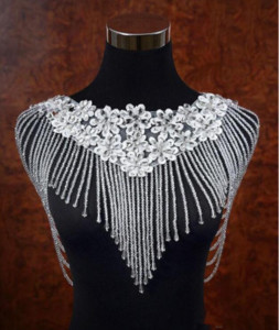 Bling Bling Crystal Rhinestone Beaded Lace Bridal Wraps Lace 2019 Top Sale Beaded Wedding Shawl Jacket Bolero Jacket For Wedding Accessories